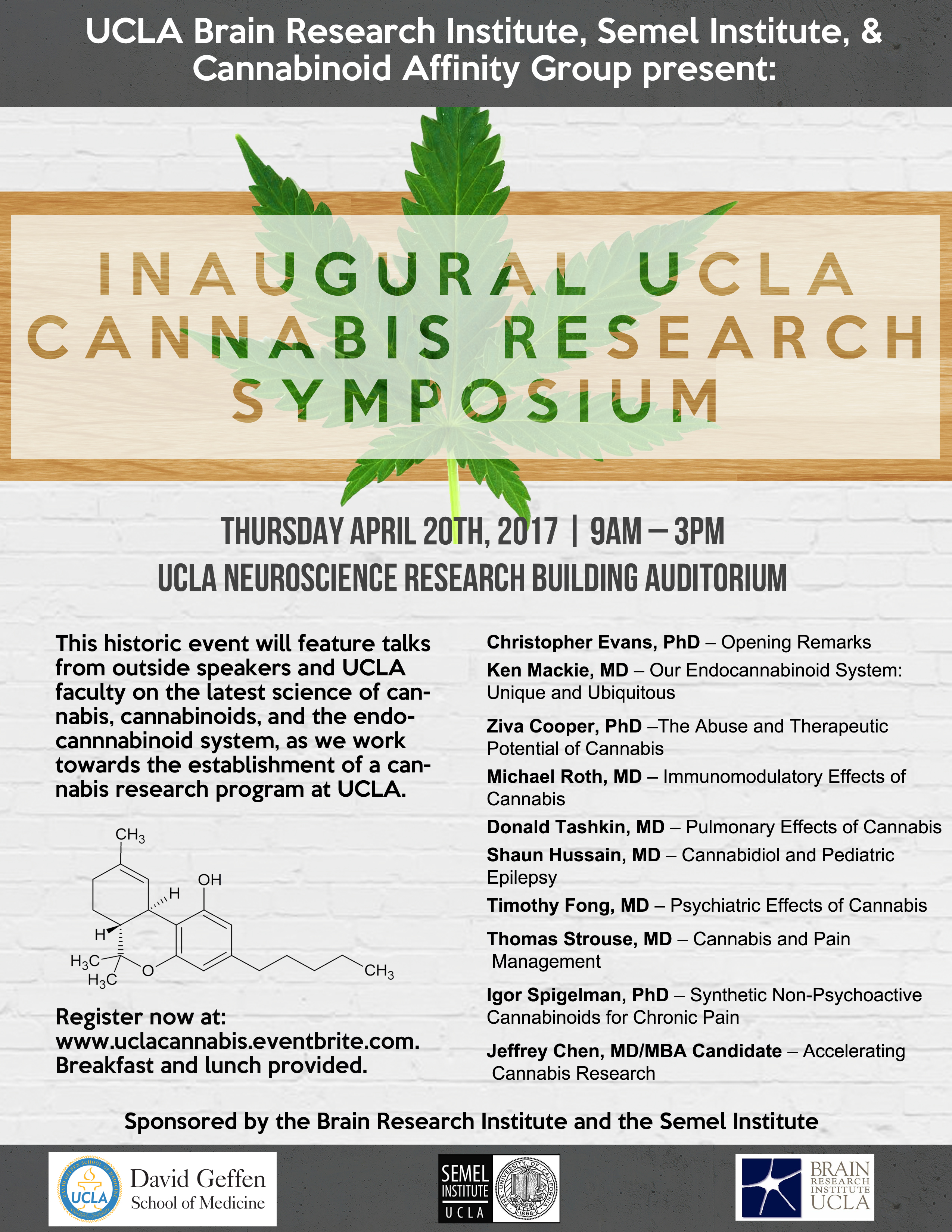 Inaugural 2017 UCLA Cannabis Research Symposium